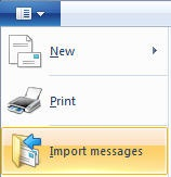 How to import messages into Windows Live Mail