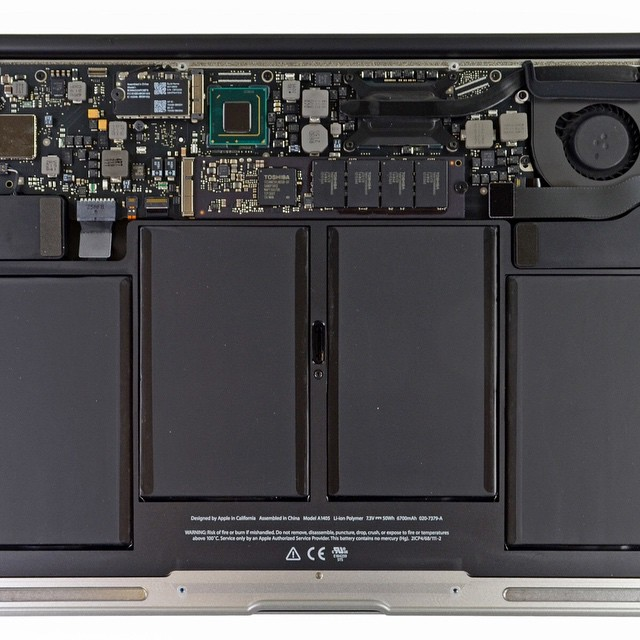 Inside A Macbook Air During One Of Our Logic Board Spill