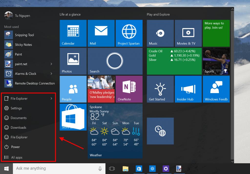 How To Customize Windows 10 Start Bar Windows 10 Nyc Help