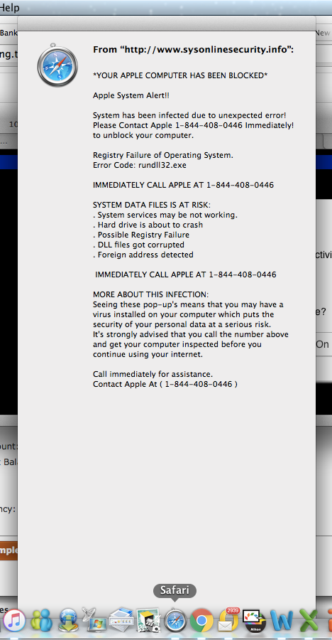 Got A Quot Your Apple Computer Has Been Blocked Quot Error Message
