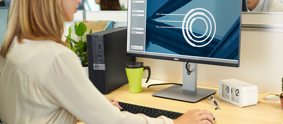 Dell desktop and monitor