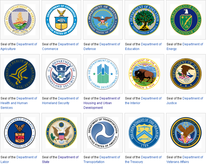 Cabinet Departments And Federal Agencies - thesecretconsul.com