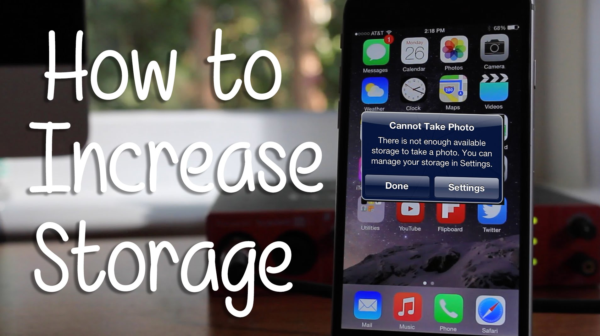 How To Increase Storage