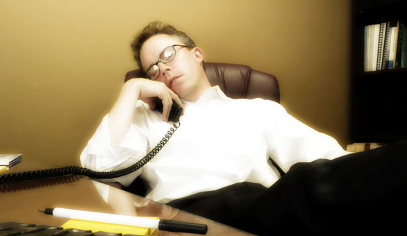 Sleeping with phone on Dell tech support call