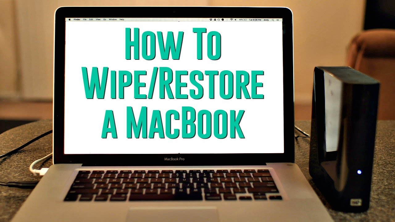 How To Wipe Out Your Old Macbook Before Selling It