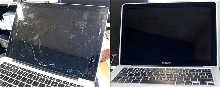 cracked-broken-macbook-pro-screen-and-fixed-after-picture